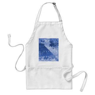 Abstract Blue Rain Drops Design Standard Apron