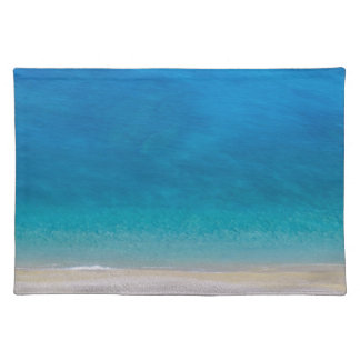 Abstract blue sea beach placemat