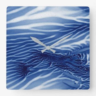 Abstract Blue Sea Square Wall Clock