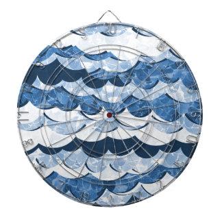Abstract Blue Sea Waves Design Dartboard