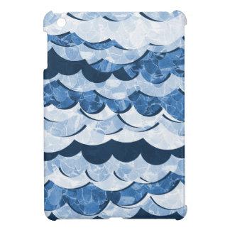 Abstract Blue Sea Waves Design iPad Mini Case