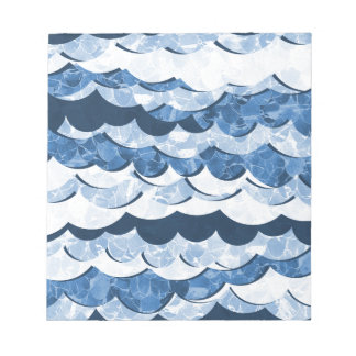 Abstract Blue Sea Waves Design Notepads