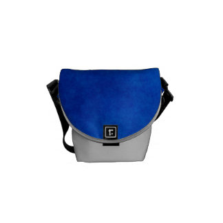 Abstract Blue & Silver Dust Accessory Bag Courier Bags