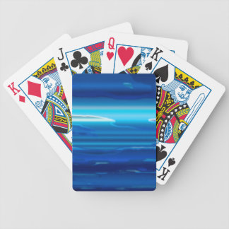Abstract Blue Sky Bicycle Playing Cards