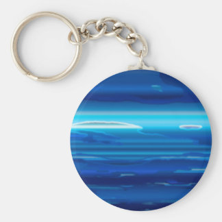 Abstract Blue Sky Keychain