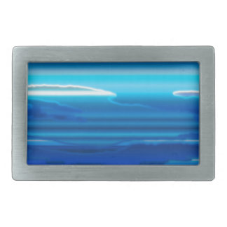 Abstract Blue Sky Rectangular Belt Buckles
