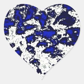 Abstract Blue Spots Heart Sticker