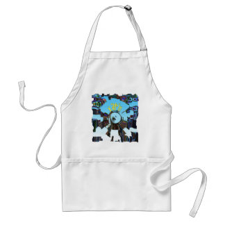 Abstract Blue Standard Apron