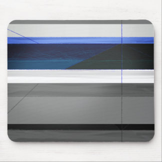 Abstract Blue stripes Mouse Pad