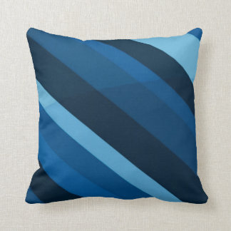 Abstract Blue Stripes Pattern Throw Pillow