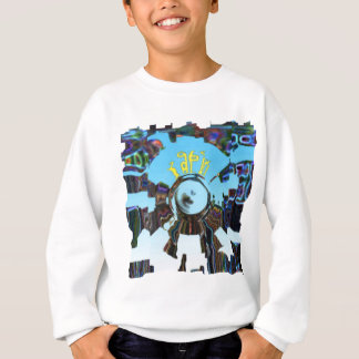 Abstract Blue Sweatshirt