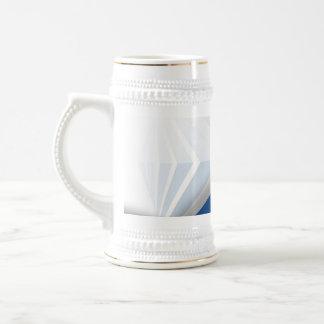 Abstract Blue Swoosh Textured 18 Oz Beer Stein