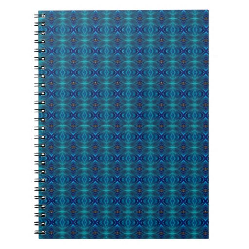 Abstract blue tiles notebook
