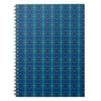 Abstract blue tiles spiral notebooks