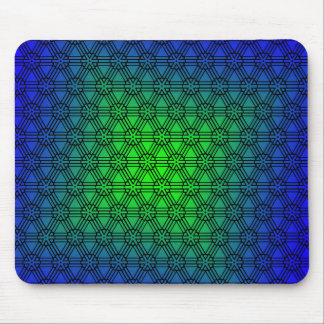 Abstract Blue to Green Mouse Pad