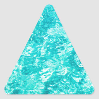Abstract blue triangle sticker