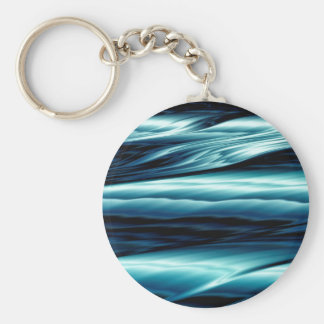Abstract Blue Water Waves Keychain
