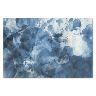 Abstract blue watercolor background tissue paper