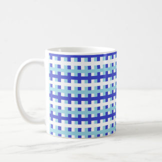 Abstract Blue, White and Pastel Blue Coffee Mug