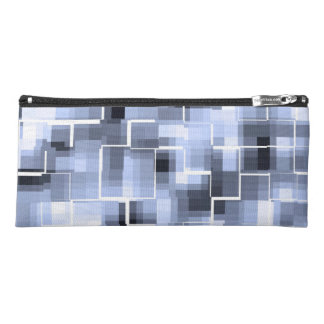 Abstract Blue White Gray Pencil Case