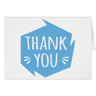 Abstract Blue & White Thank You - Wedding, Party Card