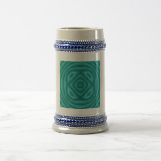 Abstract Blue Wood Pattern Beer Steins