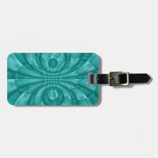 Abstract Blue Wood Pattern Luggage Tag