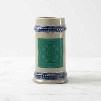 Abstract Blue Wood Pattern Mug