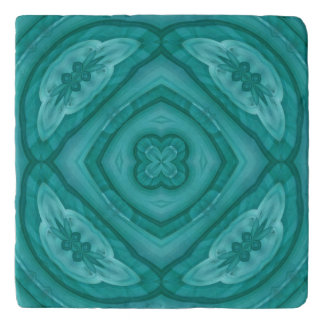Abstract Blue Wood Pattern Trivet