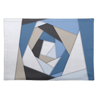 Abstract Blues Geometric Layers Placemat