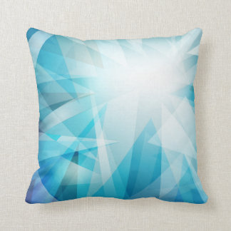 Abstract Blues Pattern Pillows