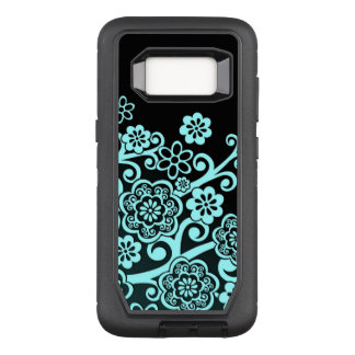 Abstract Bluish Floral Pattern OtterBox Defender Samsung Galaxy S8 Case