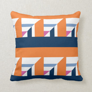 Abstract Boat Patterns Throw Pillow