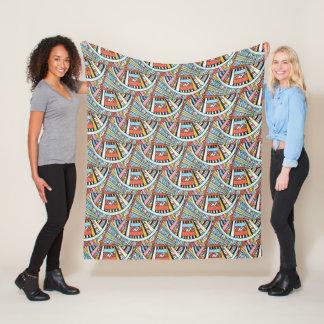 Abstract Boho Pattern fleece blankets