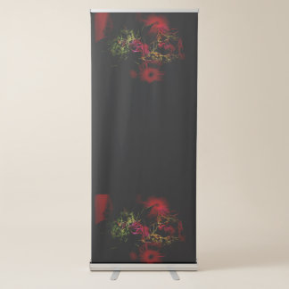 abstract bouquet retractable banner