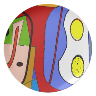 Abstract Breakfast Plate