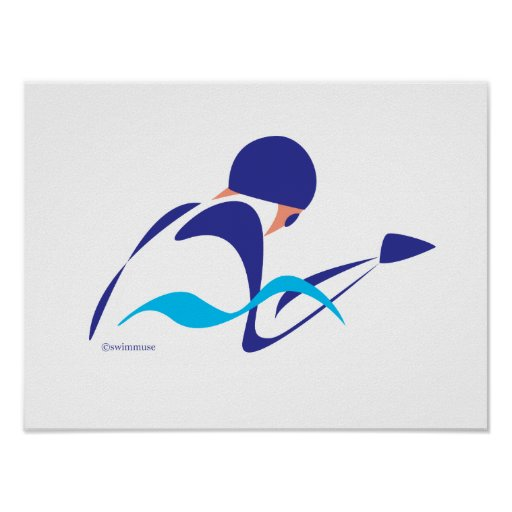 Abstract Breaststroke 2 Poster