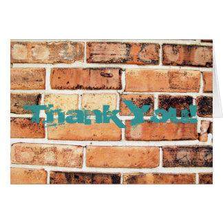 Abstract Brick Wall Greeting Card