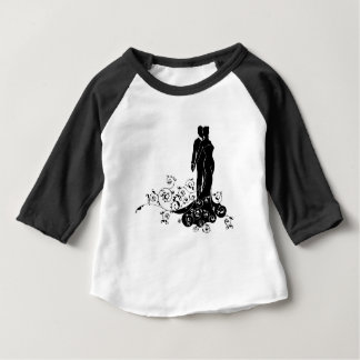 Abstract Bride and Groom Wedding Silhouette Baby T-Shirt