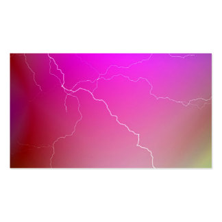 Abstract Bright Pink Neon Lightning Image. Business Card Templates