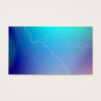 Abstract Bright Teal Pink Neon Lightning Image. Business Card