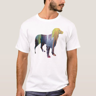 Abstract Brittany Spaniel Silhouette T-Shirt