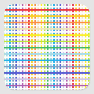 Abstract Broader Rainbow Spectrum and White Square Sticker