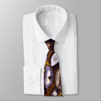 Abstract Brown Agates Tie