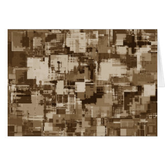 Abstract Brown Camo pattern Card