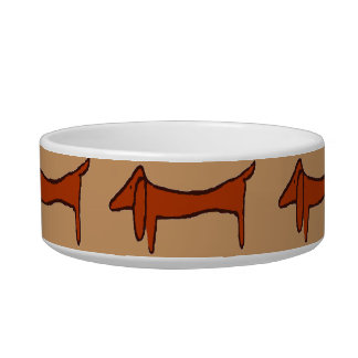 Abstract Brown Dachshund Bowl