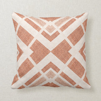 Abstract Brown Design Throw Pillow
