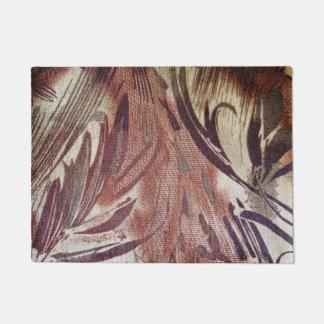 Abstract Brown Floral Design 2 Doormat