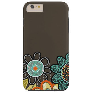 Abstract Brown Flowers iPhone 6/6s Plus Tough Case