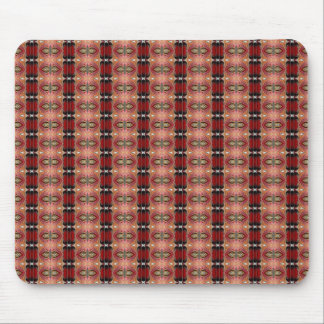 Abstract Brown Geometric Art Pattern Mousepad